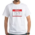 Big Jingleheimer Name Tag White T-Shirt
