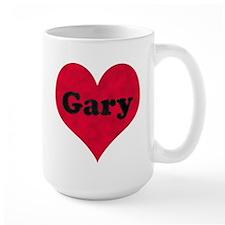 Gary Leather Heart Mug