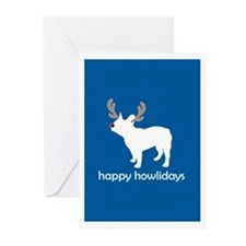 "Fr Bulldog ""Happy Howlidays"" Greeting Cards (Packa"