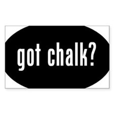 got chalk? Oval Decal #2 Decal