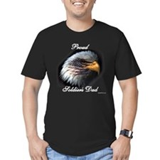 Proud Soldiers Dad (eagle/fla T-Shirt