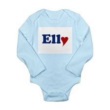 Elly with Heart Long Sleeve Infant Bodysuit