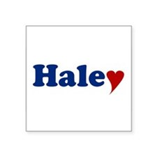 """Haley with Heart Square Sticker 3"""" x 3"""""""
