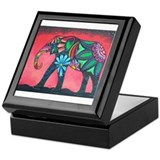 Psychedelic Elephant Keepsake Box