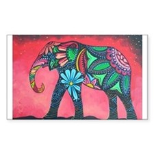 Psychedelic Elephant Decal