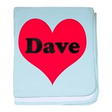 Dave Leather Heart baby blanket