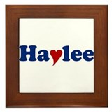 Haylee with Heart Framed Tile