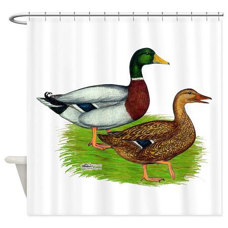 Bird gifts gt bird bathroom d 233 cor gt mallard ducks shower curtain