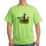 Mallard Ducks Green T-Shirt