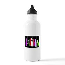 Abstract Rainbow Guitars Water Bottle