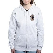Cute Mastiff Zip Hoodie