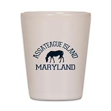 Assateague Island MD - Ponies Design. Shot Glass
