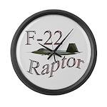 F-22 Large Wall Clock