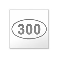 300 Oval Sticker