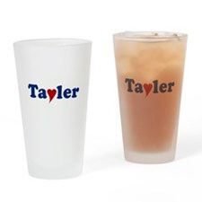 Tayler with Heart Drinking Glass