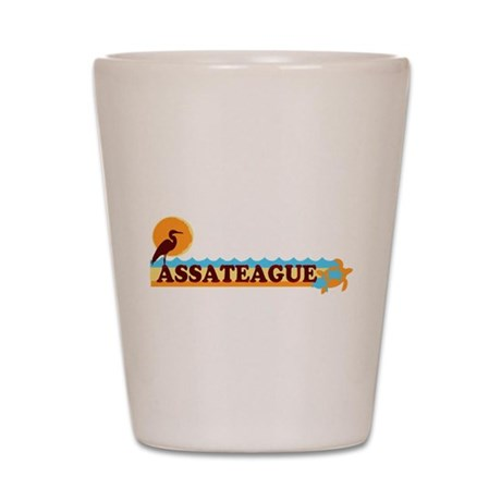 Assateague Island MD - Beach Design. Shot Glass