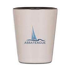 Assateague Island MD - Sailboat Design. Shot Glass