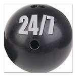 Bowling 24/7 Square Car Magnet 3
