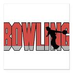 logo-bowling.png Square Car Magnet 3