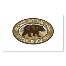Glacier Brown Bear Badge Decal