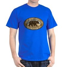 Glacier Brown Bear Badge T-Shirt