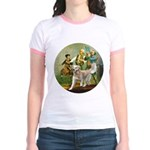 Spirit of 76 - Golden w-ball Jr. Ringer T-Shirt