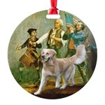 Spirit of 76 - Golden w-ball Round Ornament
