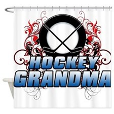Hockey Grandma (cross).png Shower Curtain