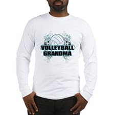 Volleyball Grandma (cross).png Long Sleeve T-Shirt