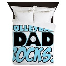 This Volleyball Dad Rocks copy.png Queen Duvet