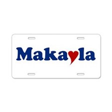 Makayla with Heart Aluminum License Plate