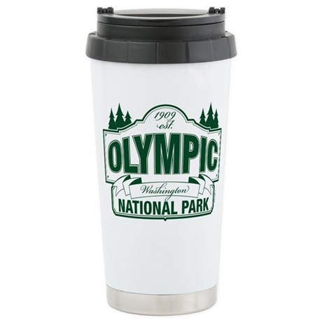 Olympic National Park Green Sign Ceramic Travel Mu