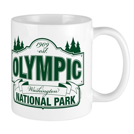 Olympic National Park Green Sign Mug
