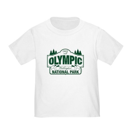Olympic National Park Green Sign Toddler T-Shirt