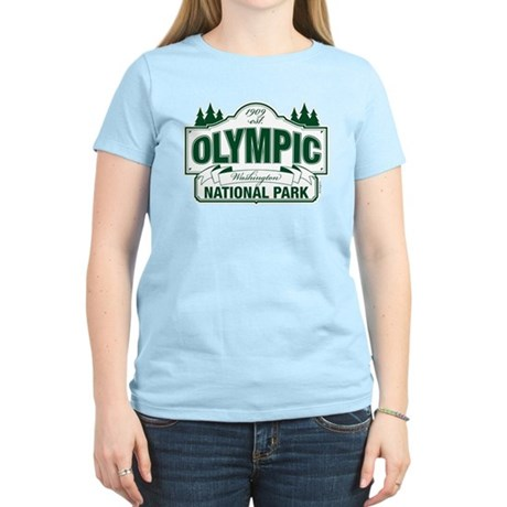Olympic National Park Green Sign Women's Light T-S