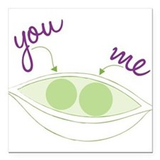 "You And Me Square Car Magnet 3"" x 3"""