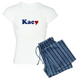 Kacy with Heart pajamas