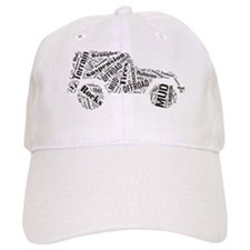 Jeep Word Cloud Baseball Cap