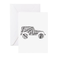 Jeep Word Cloud Greeting Cards (Pk of 10)