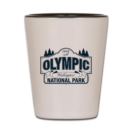 Olympic National Park Blue Sign Shot Glass