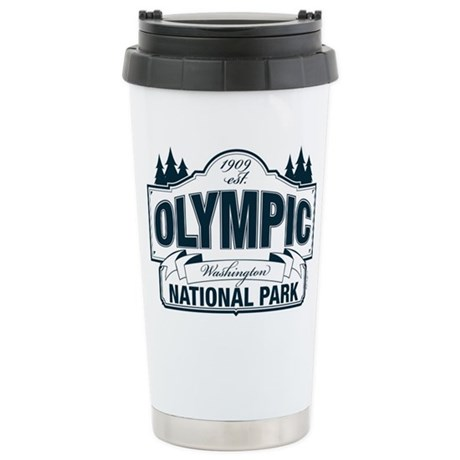 Olympic National Park Blue Sign Ceramic Travel Mug