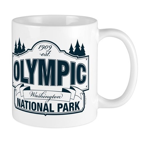 Olympic National Park Blue Sign Mug