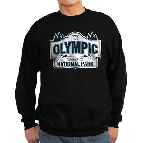 Olympic National Park Blue Sign Sweatshirt (dark)