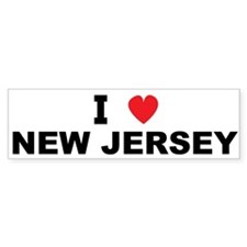 I Love New Jersey Bumper Bumper Sticker