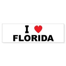 I Love Florida Bumper Bumper Sticker