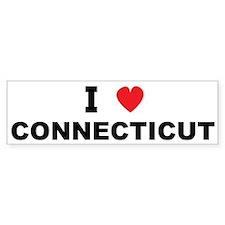 I Love Connecticut Bumper Bumper Sticker