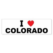 I Love Colorado Bumper Bumper Sticker