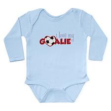 Love My Goalie Long Sleeve Infant Bodysuit