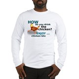 chicken_front Long Sleeve T-Shirt