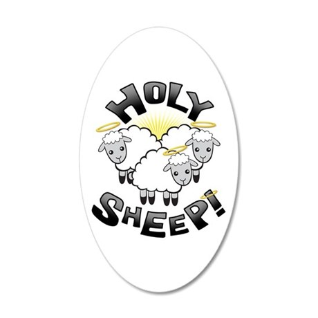 Holy Sheep! 35x21 Oval Wall Decal